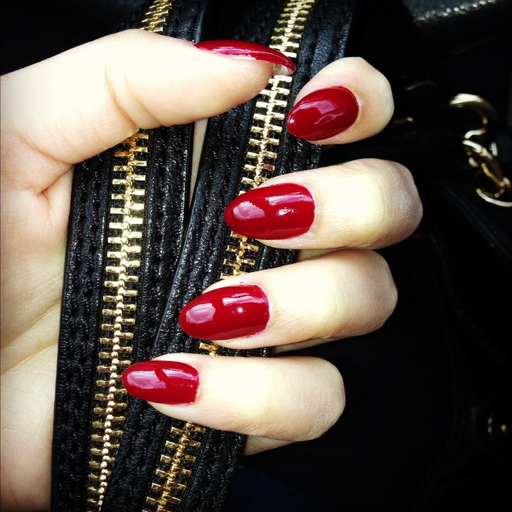 ruby red coffin fall nails photo - 1