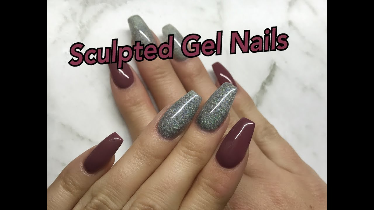 sculpted gel nails photo - 1