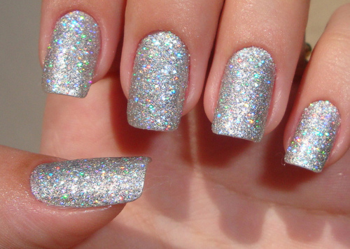 shimmer acrylic nails photo - 1