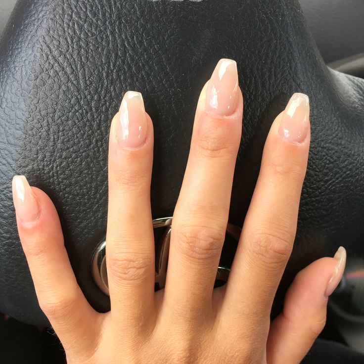 short coffin nails clear photo - 1