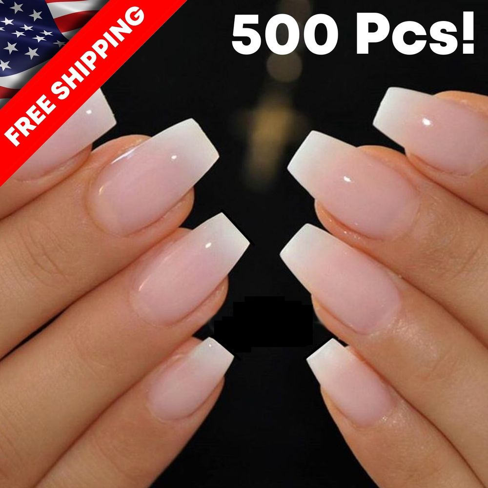short coffin nails clear photo - 2
