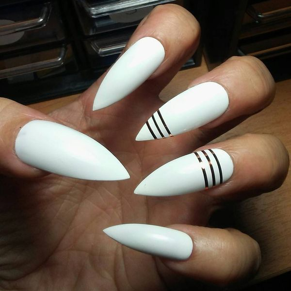 short french stiletto nails photo - 2