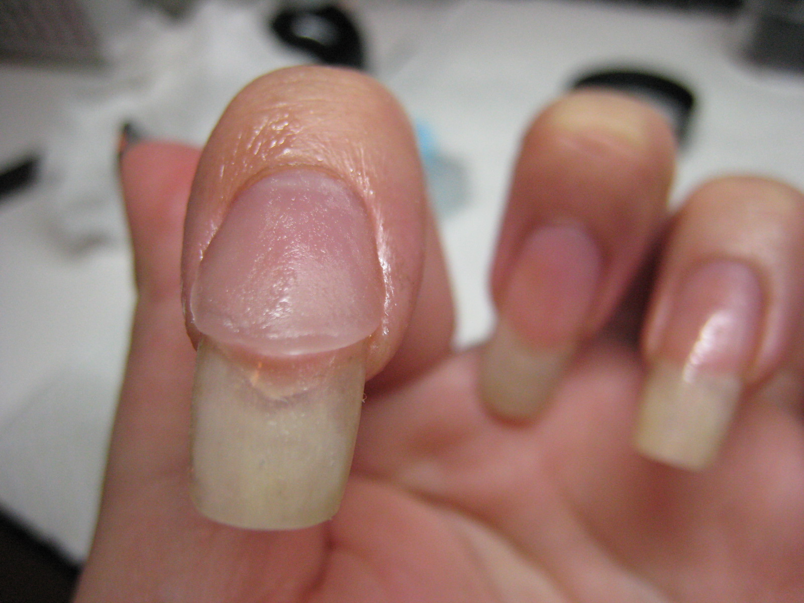 short french tip acrylic nails photo - 1