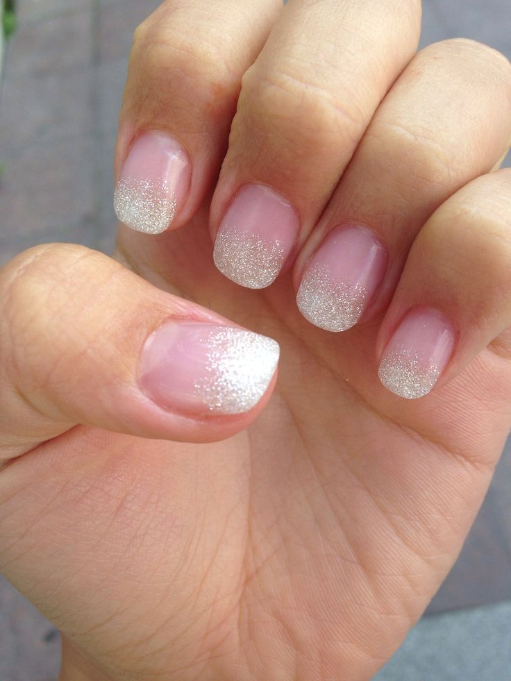 Short french tip acrylic nails - Expression Nails