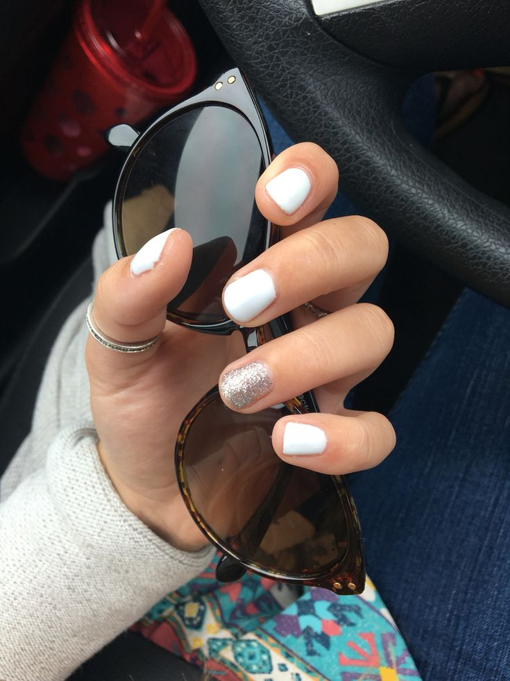 Short Gel Nails White Dark Skin New Expression Nails