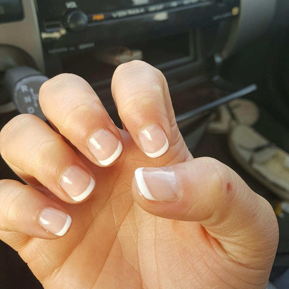 short gel nails with tips photo - 2