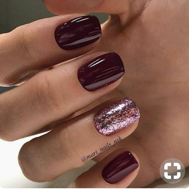 short maroon stiletto nails photo - 1