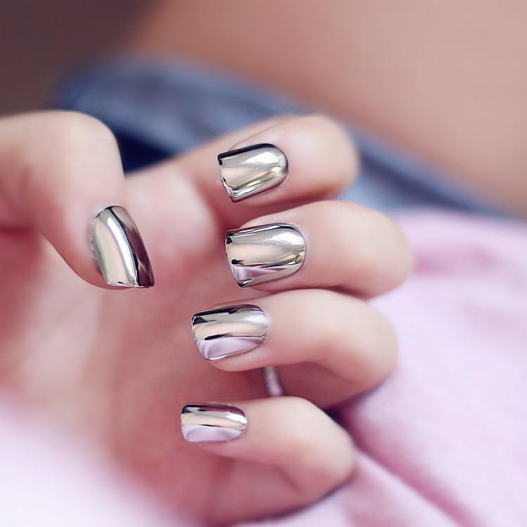 short nails acrylic photo - 2