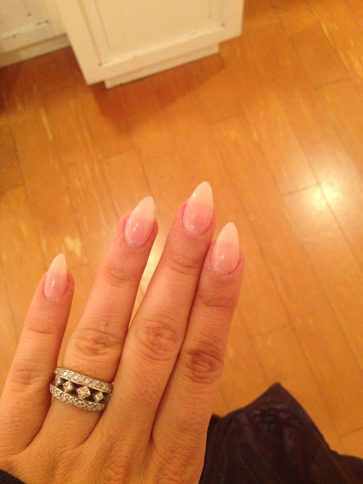 short natural stiletto nails photo - 1