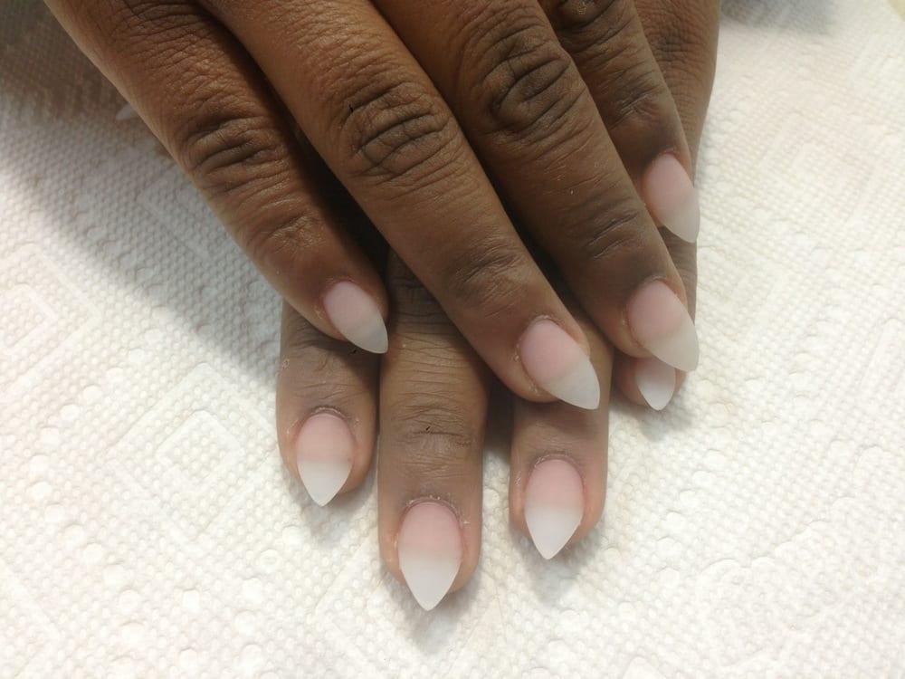 short natural stiletto nails photo - 2