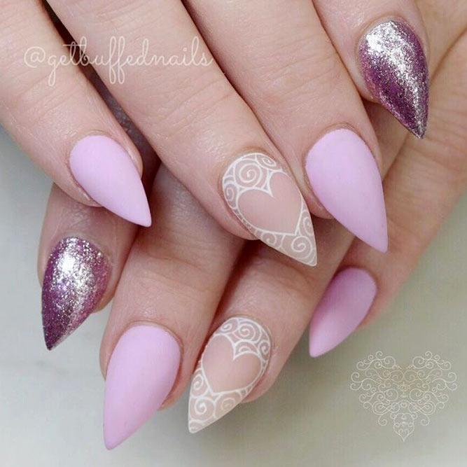 short pink stiletto nails photo - 1