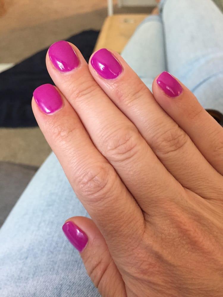 short round gel nails photo - 1