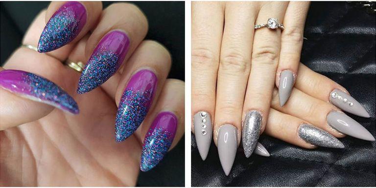 short stiletto easter nails photo - 1