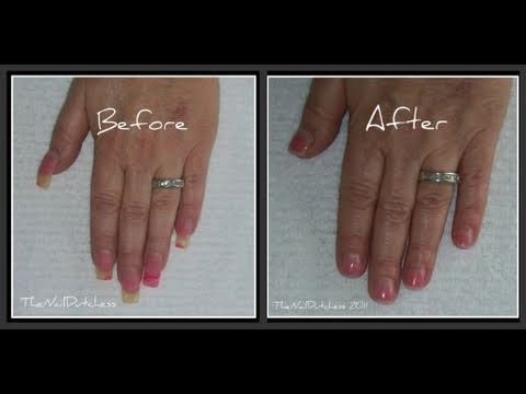 shorten acrylic nails at home photo - 1