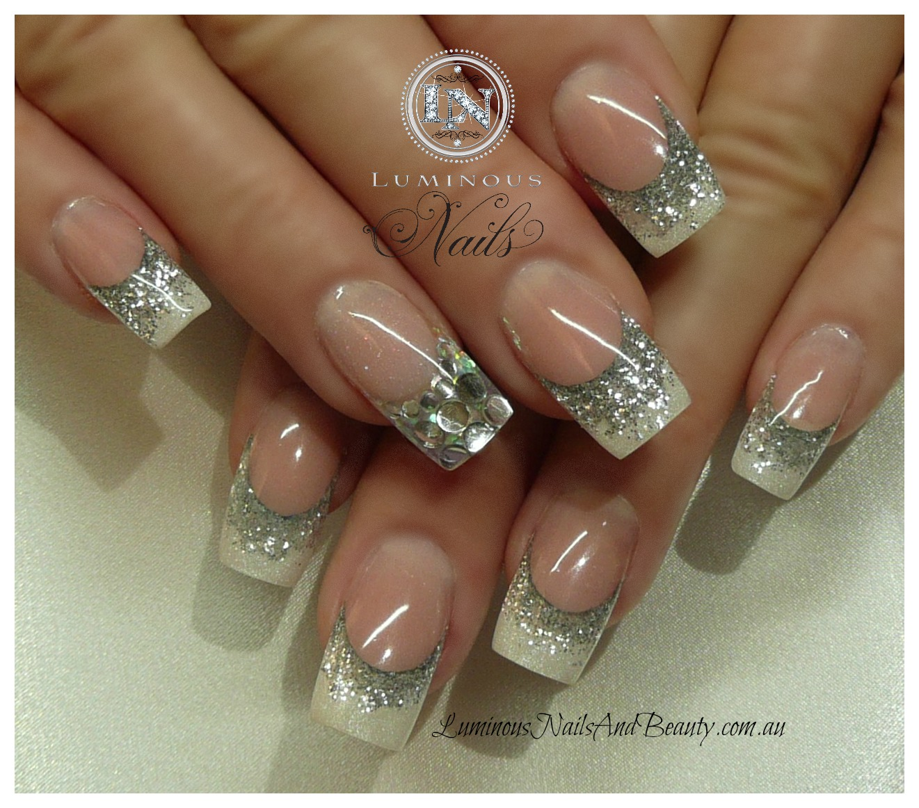 Silver gel nails - Expression Nails