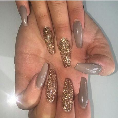 Silver glitter acrylic nails - Expression Nails