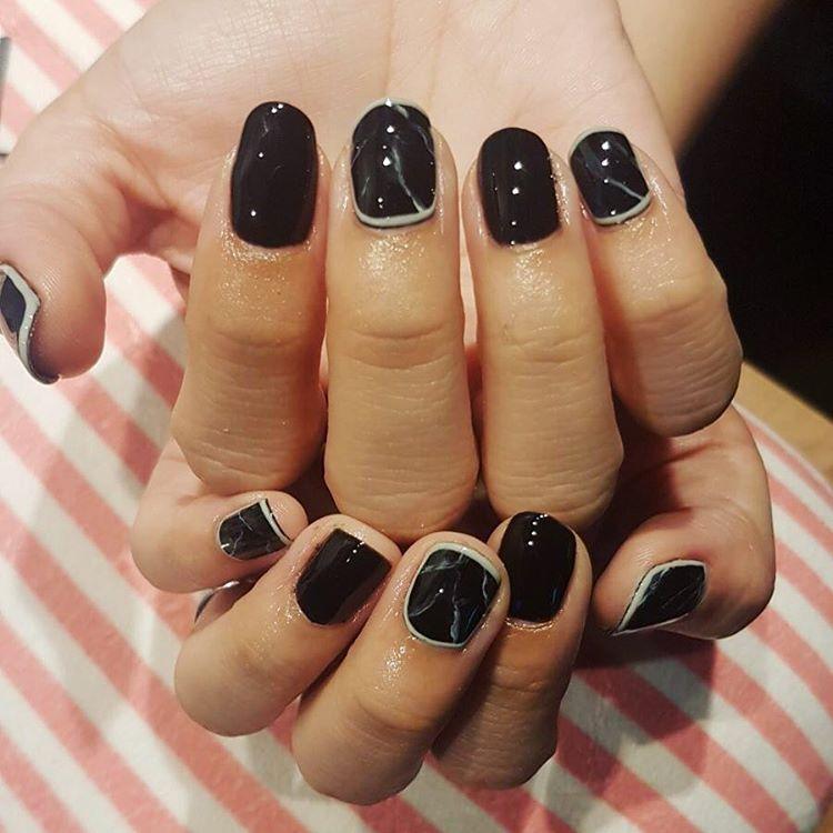 Simple acrylic nails - Expression Nails
