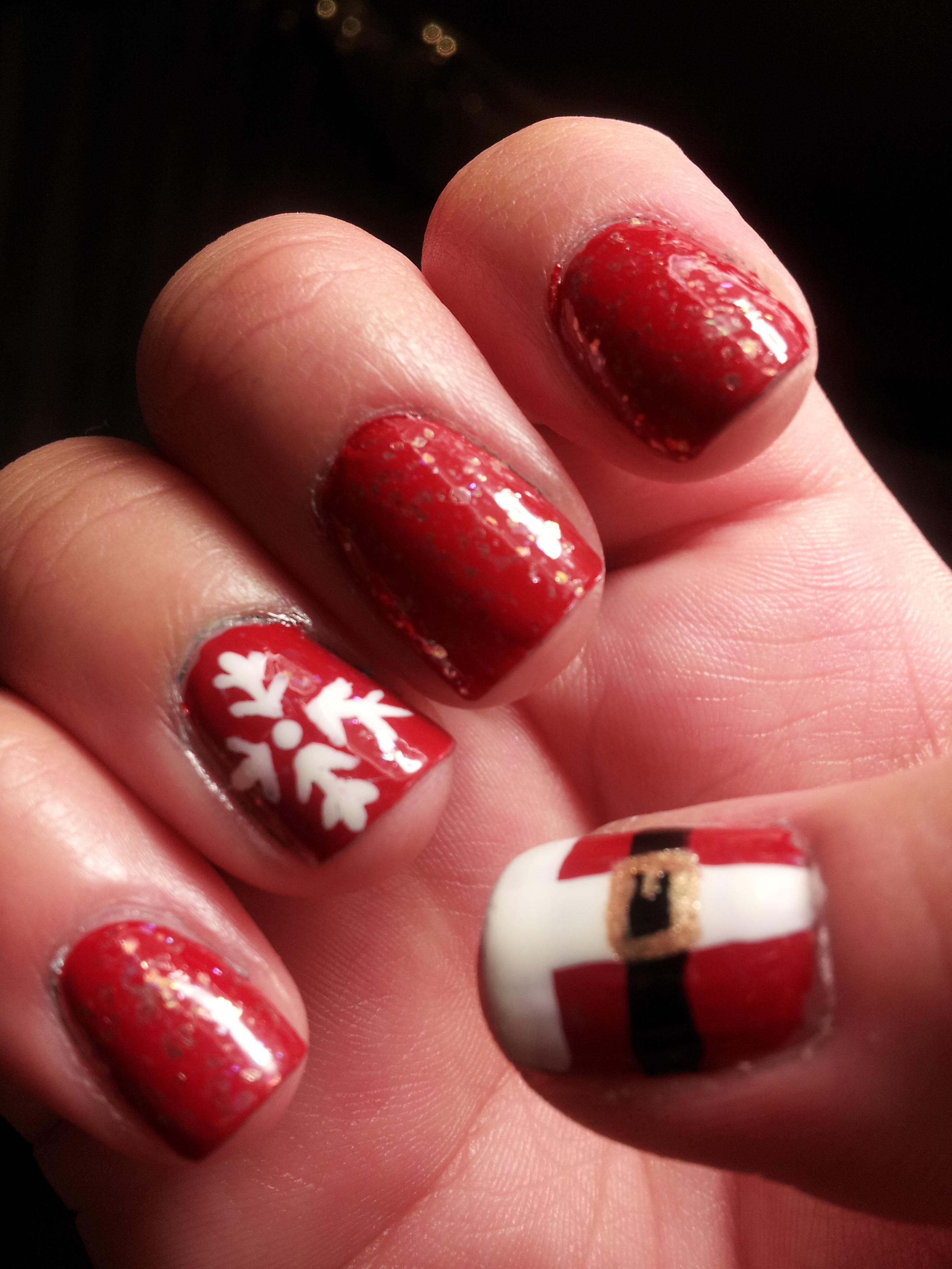 simple gel nails christmas photo - 1