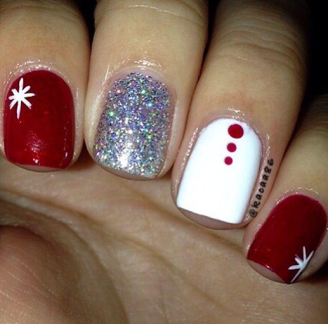 simple gel nails christmas photo - 2