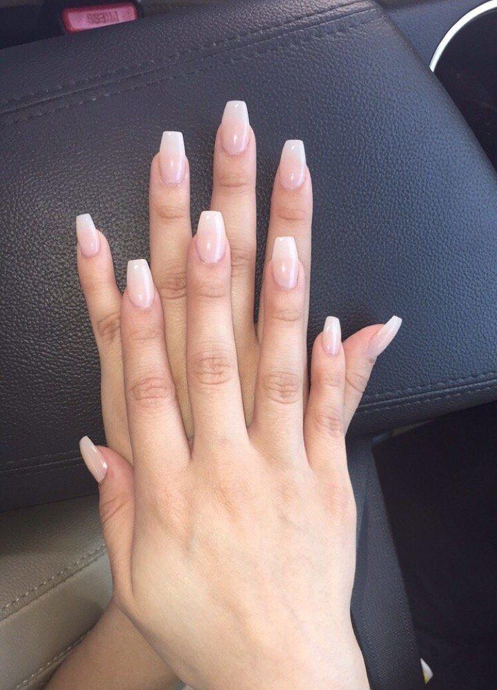 simple natural acrylic nails photo - 1