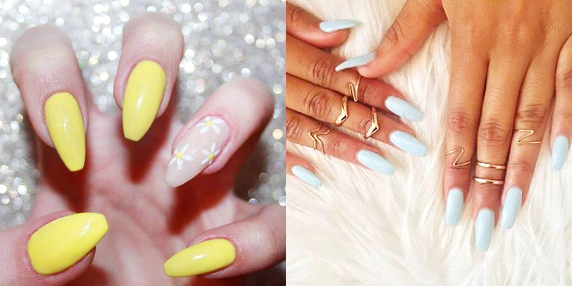 skin acrylic nails photo - 1