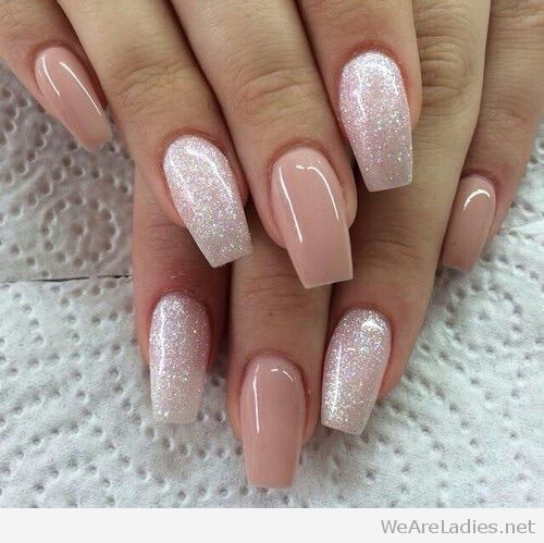 Small coffin shaped nails - Expression Nails