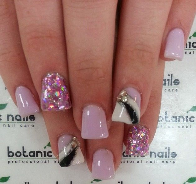 small wide nails w acrylic nails photo - 1