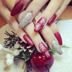 snowflake coffin nails photo - 2