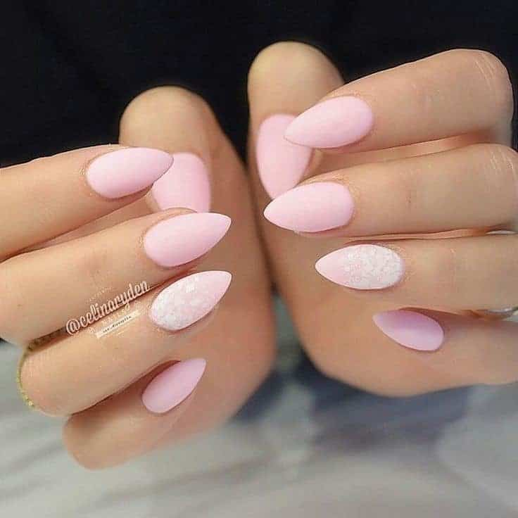 soft pink acrylic nails photo - 1