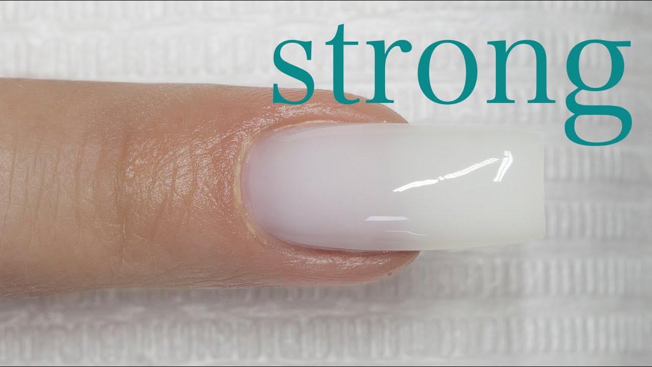 soft white gel nails photo - 1