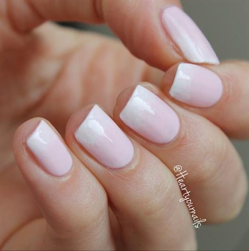 soft white gel nails photo - 2
