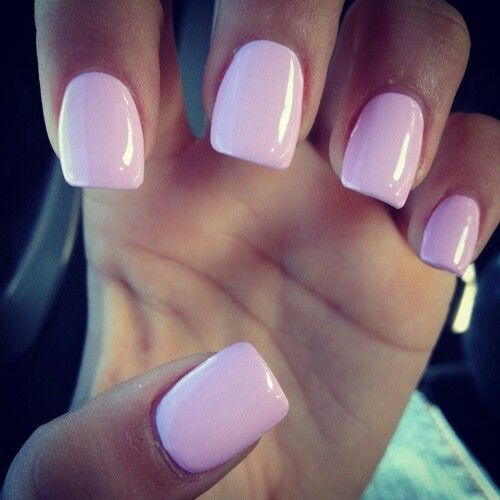 solid colored acrylic nails photo - 1