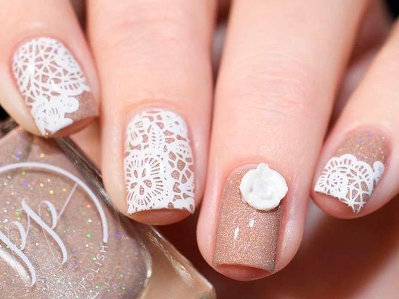 sparkly acrylic nails photo - 2