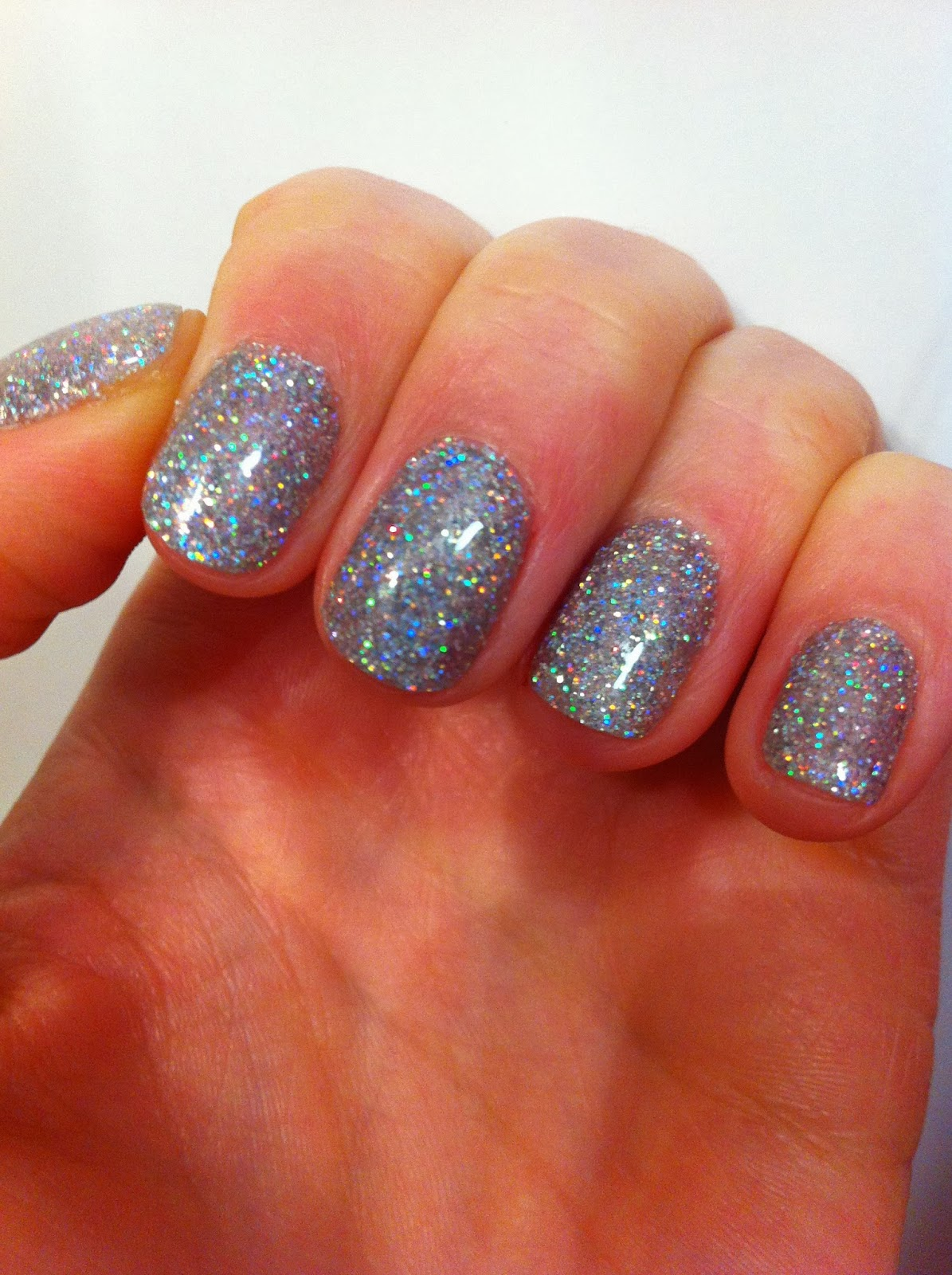 sparkly gel nails photo - 1