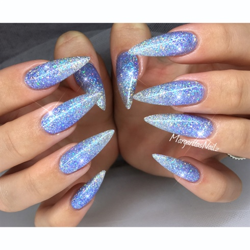 sparkly stiletto nails photo - 2