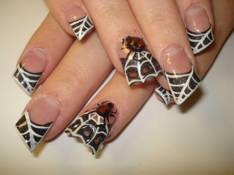 spider gel nails photo - 2