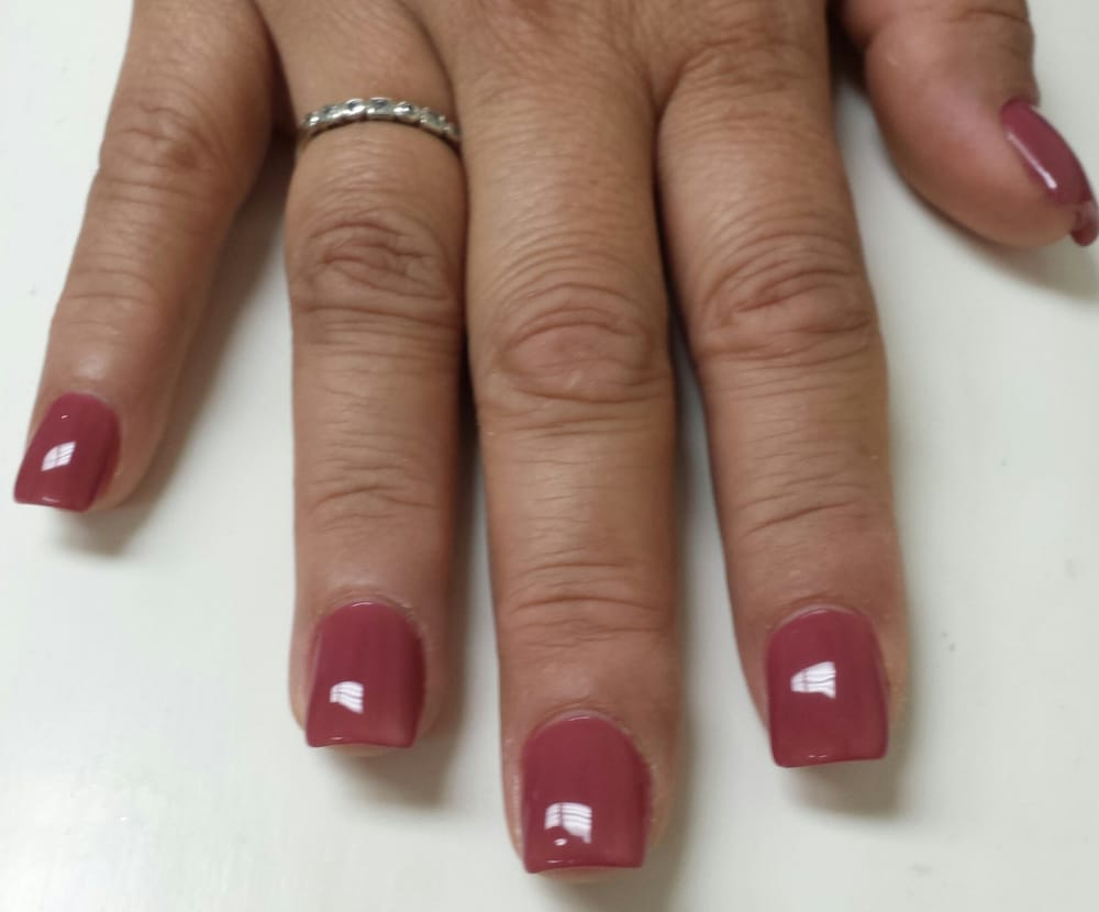 square gel nails photo - 1