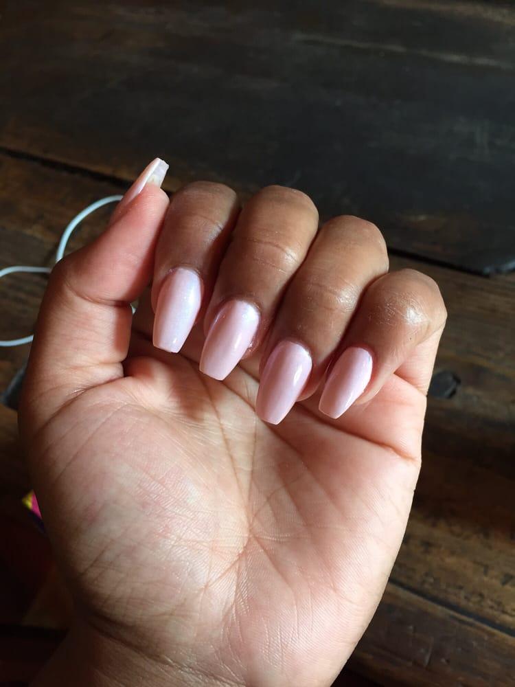 square shaped acrylic nails photo - 1