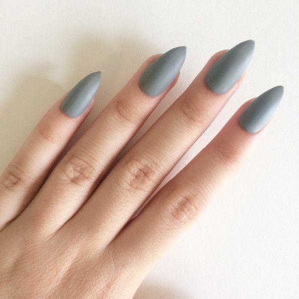 stick on nails stiletto photo - 1