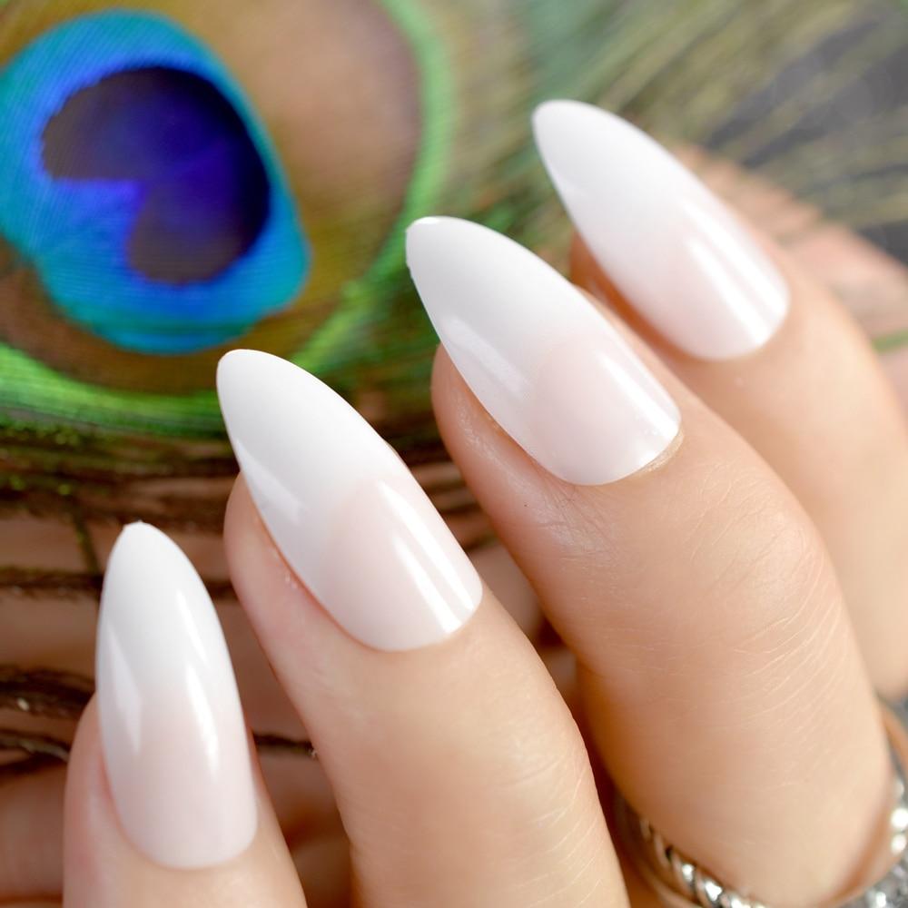 stiletto acrylic nails medium photo - 2