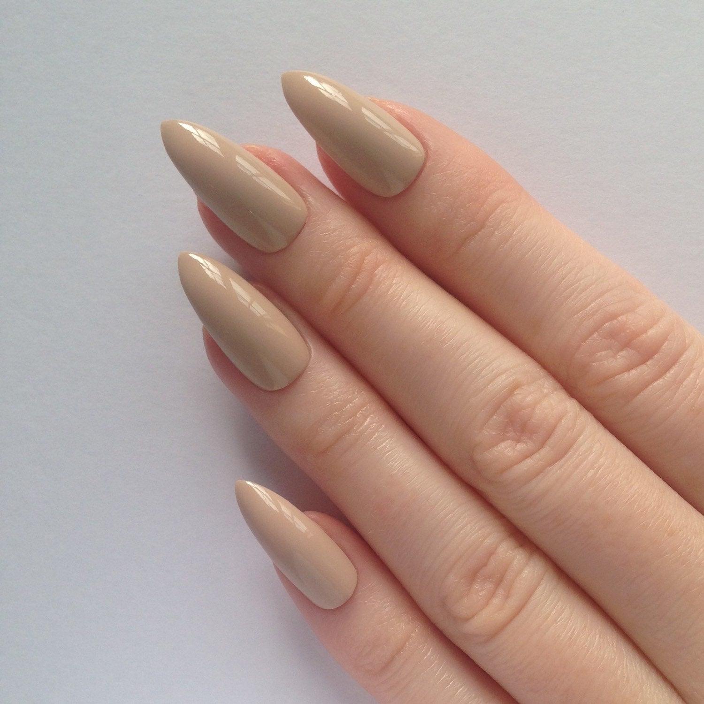 stiletto acryllic nails photo - 2