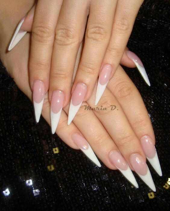 stiletto french nails photo - 2