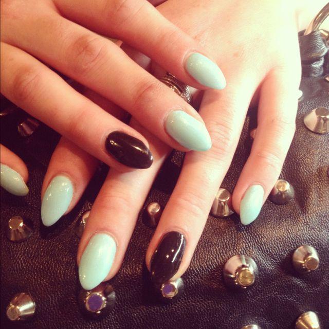 stiletto gel nails designs short photo - 2