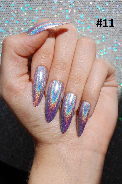 stiletto glue on nails photo - 1