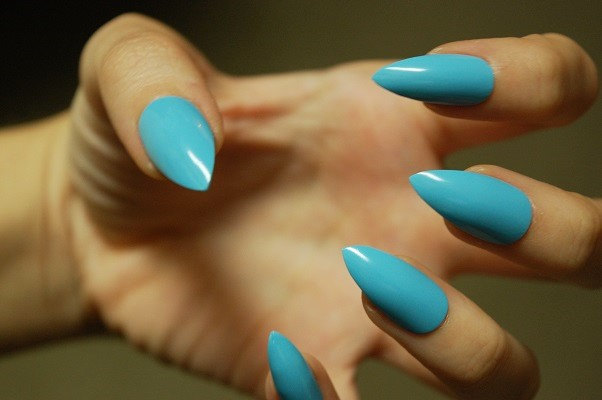 stiletto glue on nails photo - 2