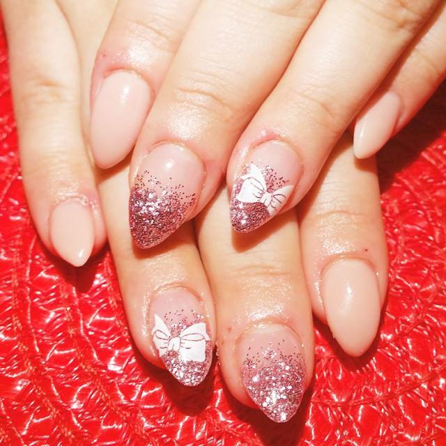 stiletto light nails blue photo - 2