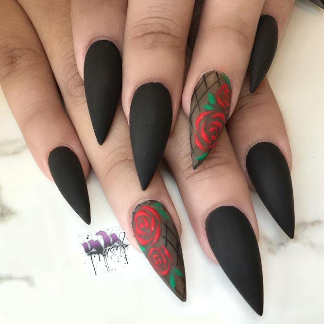 stiletto nails black photo - 1
