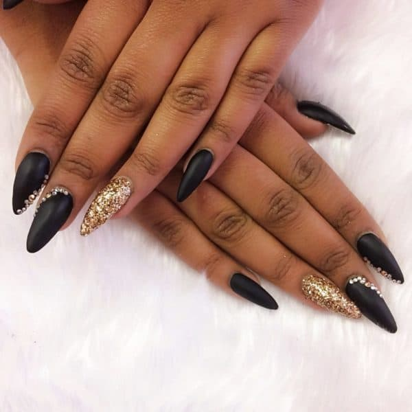 Gold Stiletto Nails , Page 5 , +9000 Summer Nail Designs