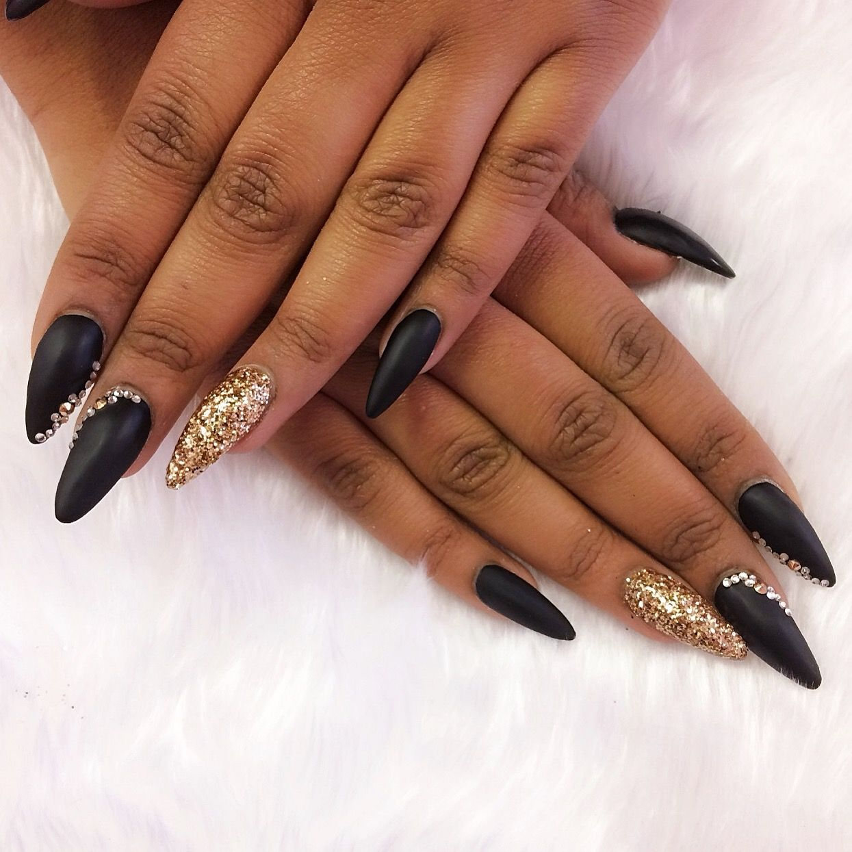 Stiletto nails for black dress   New Expression Nails
