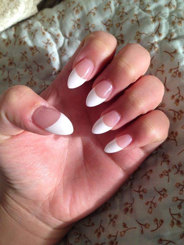 stiletto nails french tip photo - 1